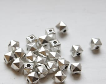 40pcs Oxidized Silver Tone Base Metal Spacers-6x5mm (296X-H-177A)