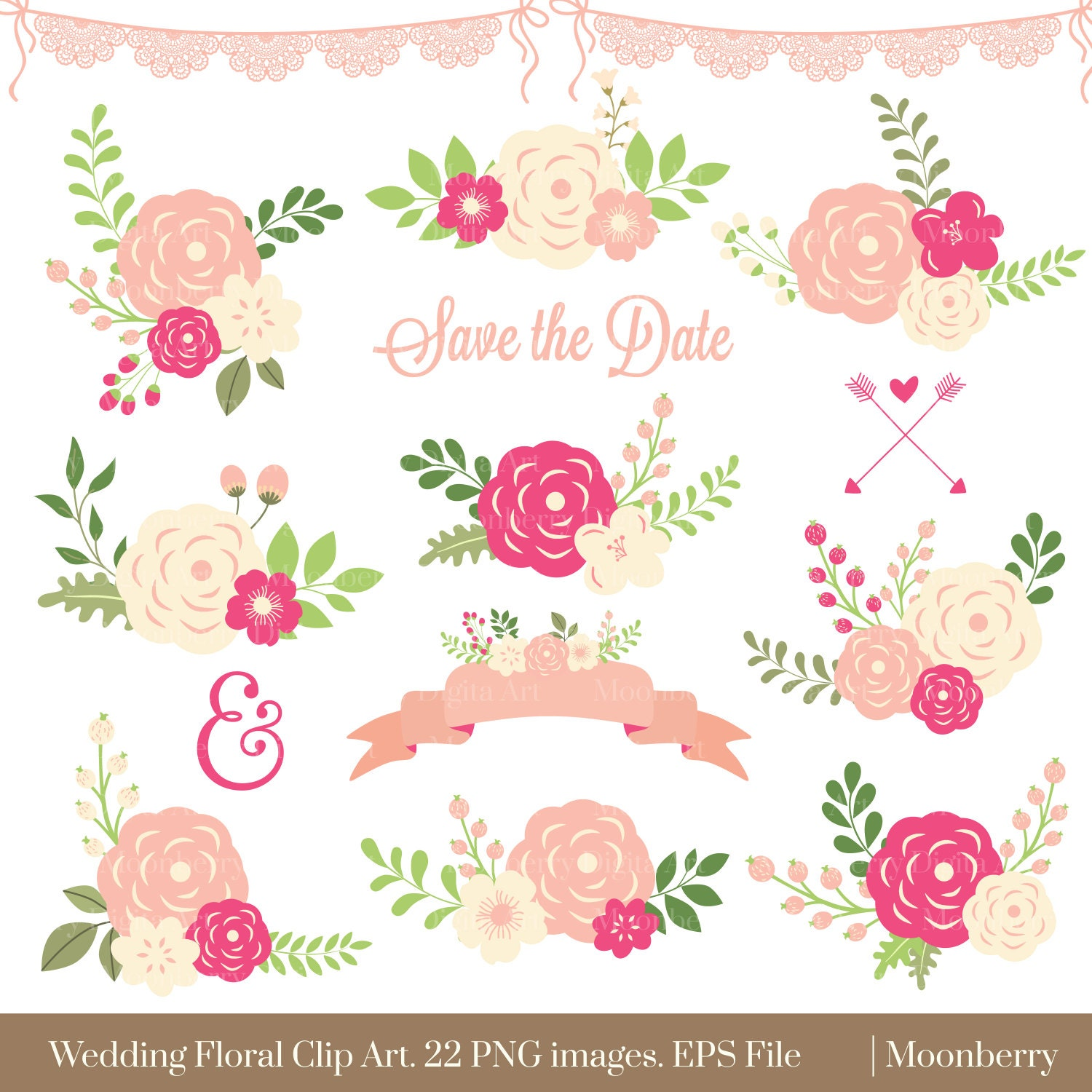 Floral clipart wedding floral clipart flowers zoom stopboris Choice Image