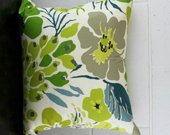 Water Lily Flower Floral Exclusive Design Cushion Pillow Cover by Peacock and Penny. 45cms x 45cms