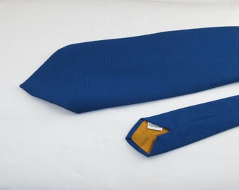Vintage Men's Wide Tie, Cobalt