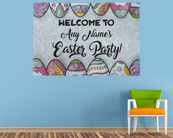 Personalised Easter Party Banner