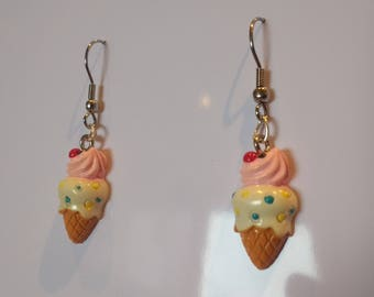 Handmade Ice Cream Kawaii Style Earrings