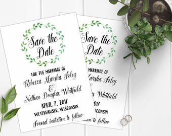 Rustic Wedding Save the Dates, Wedding Stationery, Save the Date Cards, Wedding Invitations, Wedding Cards, Modern Save the Dates, Invites