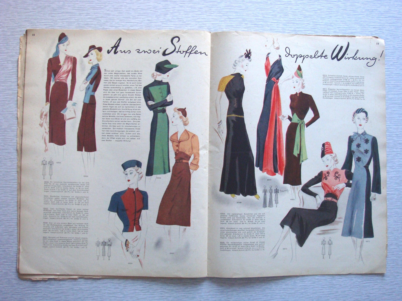 vintage German sewing pattern magazine from Nookandgrannie on Etsy ...