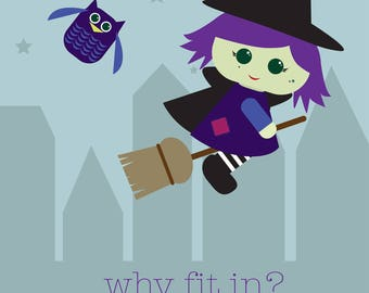 LITTLE WITCH - Fairy Tale Collection Print