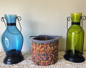 Small Colorful Coiled Basket