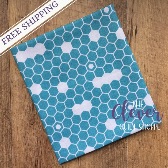 SALE! Quilting Fabric, Fine & Dandy, Hexi Blue, Lori Whitlock, Riley Blake Designs, Yardage