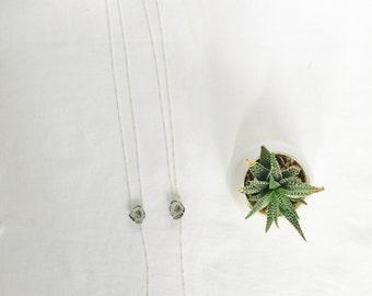 Geode Lariat Necklace, Druzy Geode Necklace, Blue Geode Necklace, Tabasco Geode, Geode Jewelry, Silver Lariat Necklace, Small Geode Necklace
