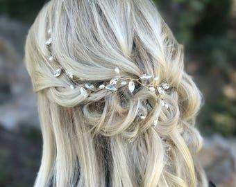 Bridal Hair Jewelry, Bridal Hair Vine, Pearl Hair Vine, Bridal Hair Accessory, Gold Wedding Hair Piece, Bridal Hair Jewelry