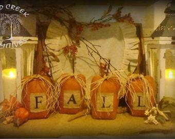 Primitive FALL Pumpkins Set