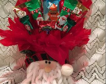 Christmas Santa with Beard Candy Arrangement