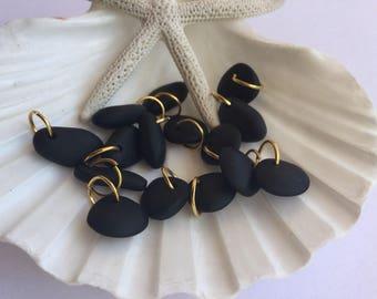 Black Sea glass bead ,Seaglass charm ,beach glass jewelry ,beach glass charm .sea glass bracelet ,add a charm ,sea glass jewelry ,charm