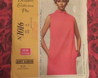 60's Vintage Designer Sewing Pattern Designer Larry Aldrich