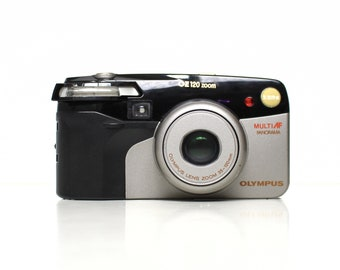 OLYMPUS OZ120/Superzoom 120 35-120mm Excellent Point and Shoot Film Camera (Champagne)