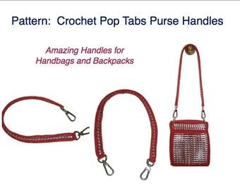 Crochet Pattern - INSTANT DOWNLOAD PDF Pattern - How to Crochet a Pop Tab Purse Handle Tutorial