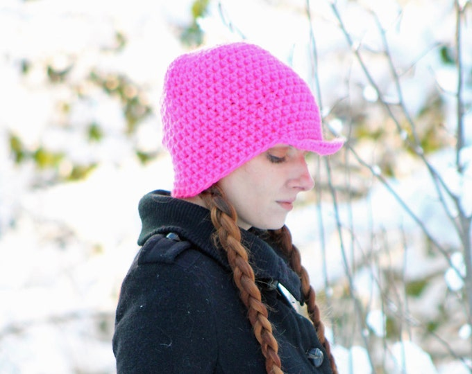 Hot Pink  Slouch Beanie Hipster Hat Gifts for her Stocking Stuffer