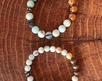 Flower Amazonite Bracelet