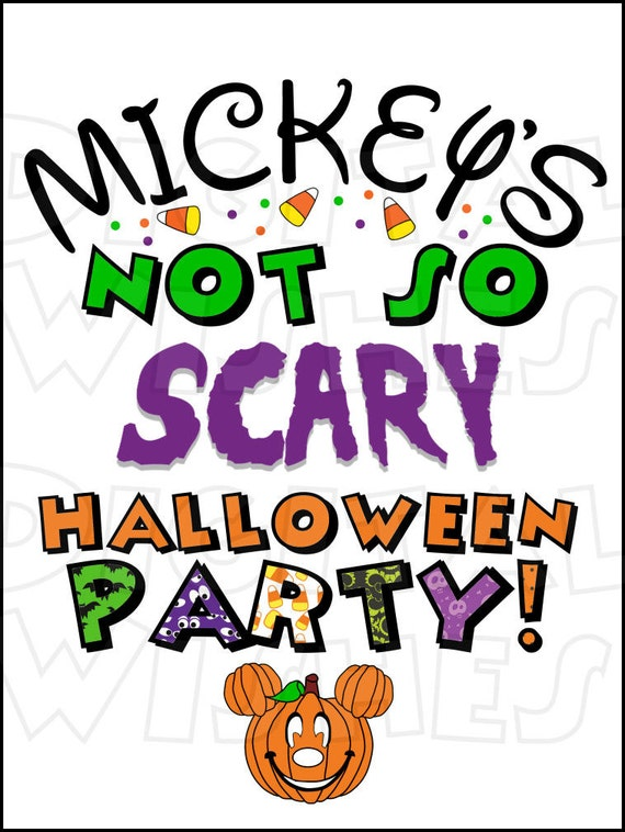 mickey s not so scary halloween party 2 digital iron on rh etsy com halloween party clipart black and white halloween party clip art humor