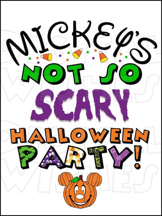 mickey s not so scary halloween party 2 digital iron on rh etsy com halloween party invitation clipart halloween party clipart black and white