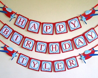 Airplane Banner, Airplane Birthday Banner, Airplane Party Decorations, Airplane Baby Shower, Airplane Decor, Airplane Bunting, Party Banner