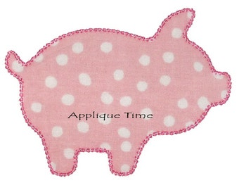 Instant Download Pig Silhouette Machine Embroidery Applique Design 4x4, 5x7 and 6x10