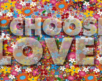 I Choose Love with Flowers, Note Cards