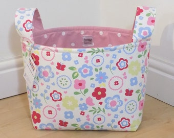 Fabric storage basket, nursery storage box, storage basket, playroom storage, toy storage, nappy basket, storage box