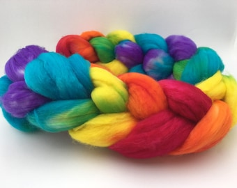 Sock Yarn Roving - Rainbow