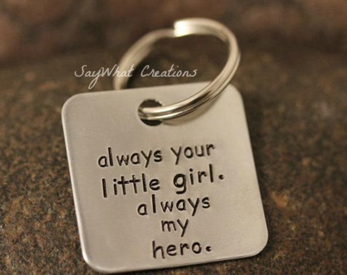 Custom Hand Stamped Square Aluminum Key Chain