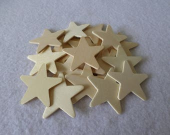 20 Wood stars, unfinished, for kids crafts, wood crafts, wood working