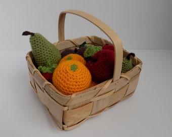 5 a day fruit **Crochet pattern only**