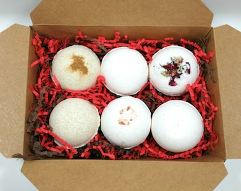 Natural Bathbombs Gift Set Mother's Day Gift Basket Bath Lover Gift for Her Birthday Gift for Teacher Large Bathbombs Gift for Mom for Women