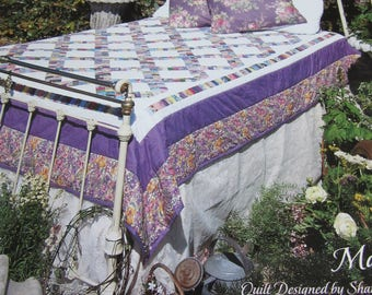 """Nana' Garden Quilt  """"Quilt in a Day"""" Quilt Pattern by Mackie"""