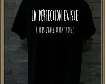 "Men tee personalized ""perfection is"""