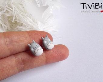 Totoro stud earrings