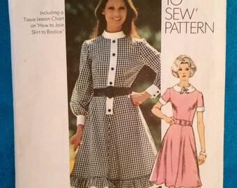 "Vintage 1972 dress sewing pattern - Simplicity 9849 - plus size 18 ( 40"" bust) - 1972"