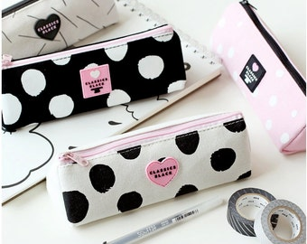 Canvas Fabric Pencil Case -Pencil Pouch Receive Pouch