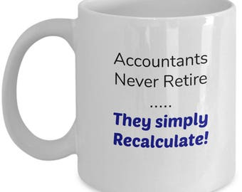 Accountant Retirement Gift | Coffee Mug for Accounting | Office Worker Retirement