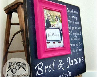 Wedding Gift, Anniversary Gift, Personalized Picture Frame, 16x16 The Sugared Plums Frames