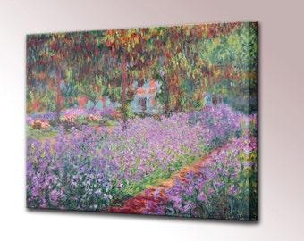 Claude Monet Canvas Wall Art Artists Garden Canvas Print Monet Prints Artists Garden at Giverny Home Decor Interior Design Ready to Hang