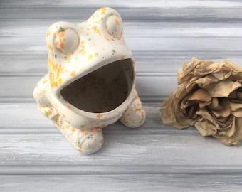 Vintage Frog Sponge Holder / Ceramic Frog Sponge Holder / Retro Frog Sponge Holder / Kitchen Sponge Holder / Kitchen organizer / frog holder