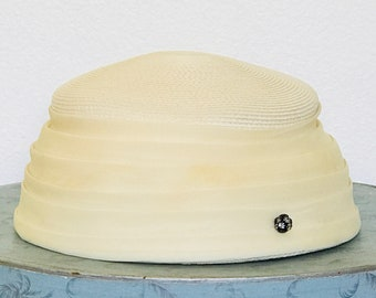 Vintage 60's Eva Mae Modes Ivory Dress Hat