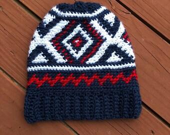 Crochet Team Colors Hat