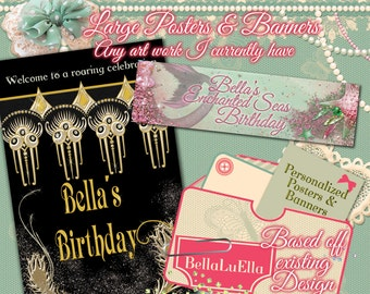 Personalized Party Banners, Fliers and Posters
