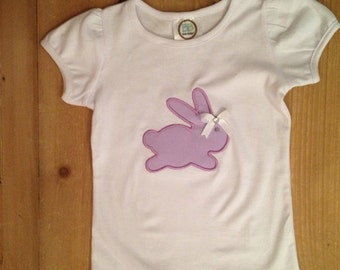 Purple Easter Bunny Shirt Or Baby Bodysuit