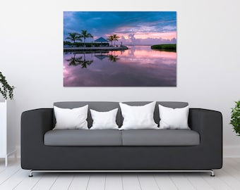Florida Keys Sunset Reflection Photo Print | Wall Art | Nature and Landscape Photography | (5x7, 8x10, 12x18, 16x24, 20x30, 24x36, 40x60)