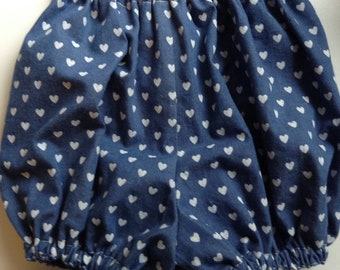 Denim Bloomers with Hearts.