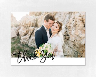 Wedding Thank you Card Template for Photographers, Wedding Photography - Photoshop Templates - Wedding Thank you Card - TK008