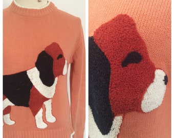 1970s Beagle dog novelty sweater– sz S-M