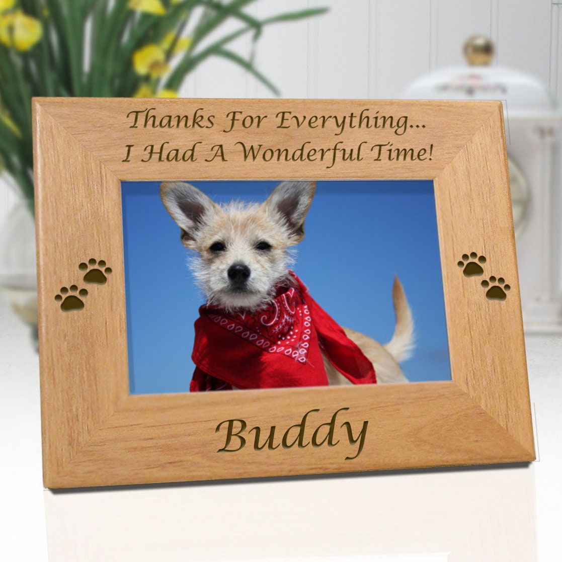 Dog memorial personalized picture frame thanks for zoom jeuxipadfo Images